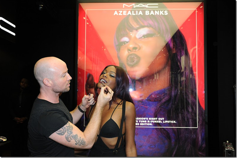 Azealia Banks performs at MAC Soho in celebration of Fashions Night Out_4