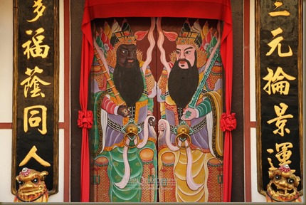 Door of the Cheng Hoon Teng, the oldest Chinese temple in Malacca