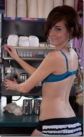 Her please Seattle area barista bikini news It's