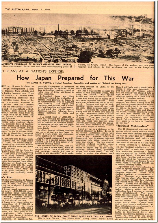 how japan prepared for WWII 1942 article
