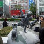 cute statue in Shibuya, Tokyo, Japan