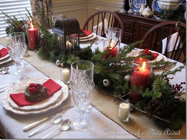 179 - Rustic Christmas Table Decorations
