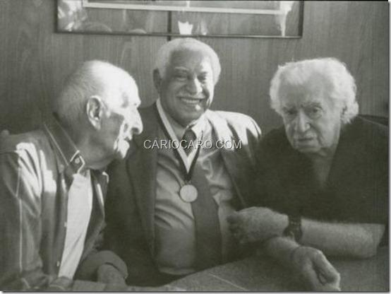 Carybé, Dorival Caymmi e Jorge Amado