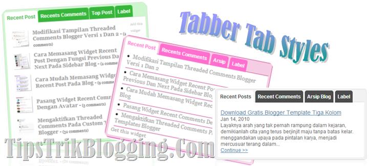 Tabber Tab Styles