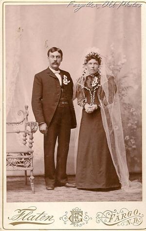 Wedding 1888to 1893  Flaten in Fargo DL Antiques