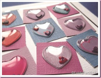 Paperchase Domed heart Stickers.