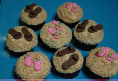 Flip Flop Cupcakes 001