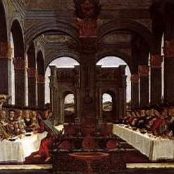 64 - Botticelli - Tabla de la historia de Nastaggio degli Honesti 4