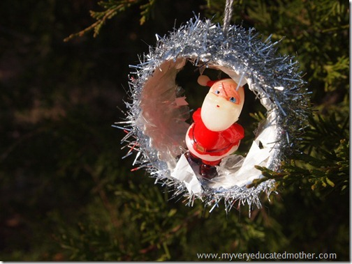 #NUO2012 Quick and Easy Santa Vintage Retro Ornaments