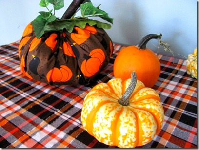 fabric pumpkin fun