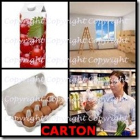 CARTON- 4 Pics 1 Word Answers 3 Letters