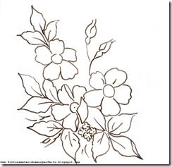 risco de flores para pintura em tecido