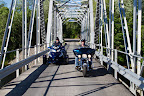 Ride across the Dean Lake Bridge in Iron Bridge, Northern Ontario