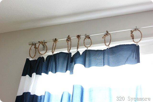 rope on curtains