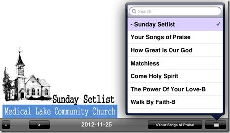setlist 2012-11-25 unrealBook