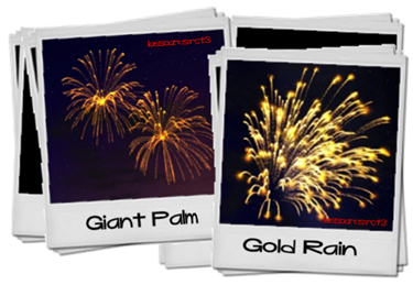 Giant Palm e Golden Rain (Firework Pack I do MJay) lassoares-rct3