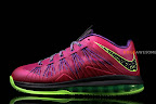 nike lebron 10 low gr purple neon green 1 06 Release Reminder: NIKE LEBRON X LOW Raspberry (579765 601)
