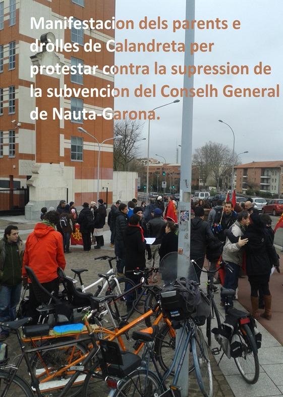 manifestacion Calandreta contra la supression de la subvencion del Conselh General 31