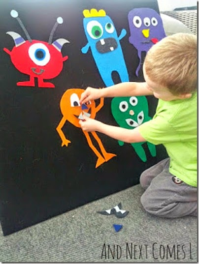 Easy, reusable Monster Kids Activities. #kidsactivities #monsters
