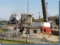 8136 Port Colborne - Lock 8 Gateway Park - RT HON PAUL J MARTIN self unloading lake freighter