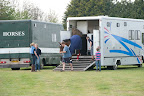 Horses arriving for the Grassroots championship