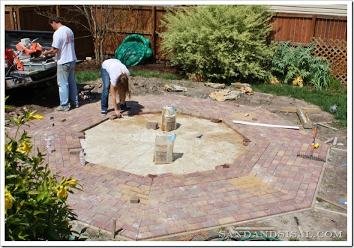 Laying Bricks Octagon Patio