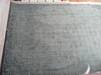Crusher run and wire mesh