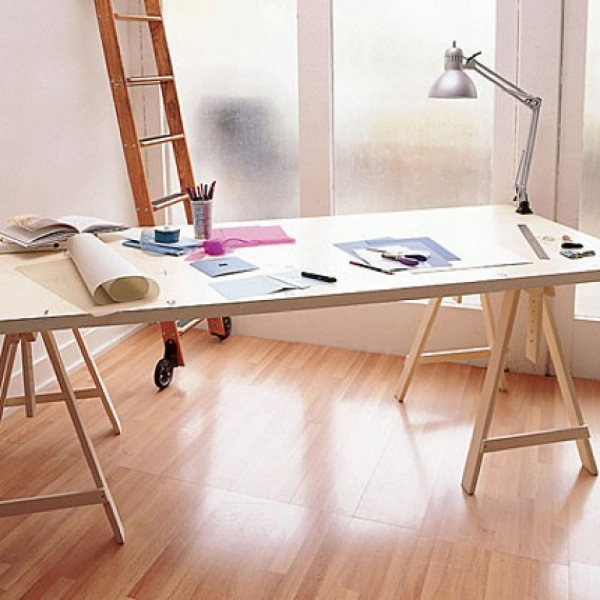 Sin pecado concebida escritorio de caballetes - Caballetes para tableros ...
