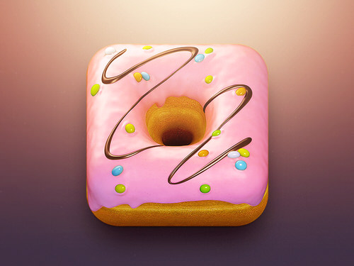 Donut ios app icon delicious