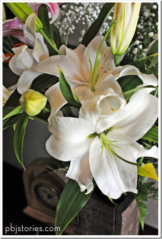 decorating with lilies