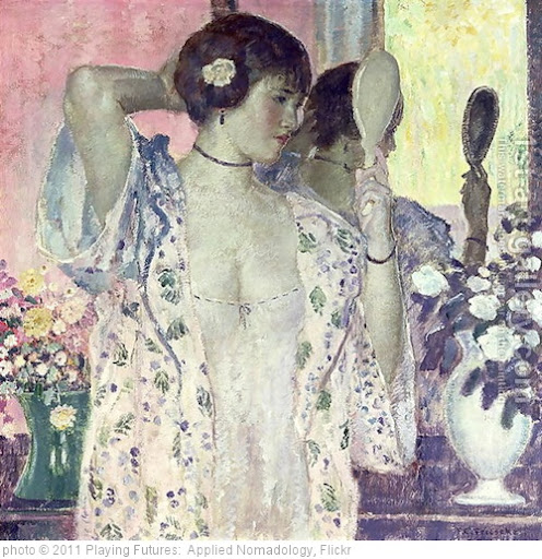 '[ F ] Frederick Carl Frieseke - The hand mirror' photo (c) 2011, Playing Futures:  Applied Nomadology - license: http://creativecommons.org/licenses/by/2.0/