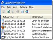 Vedere l'attività svolta da un utente Windows al PC: LastActivityView