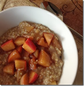 Irish Oatmeal with Apples