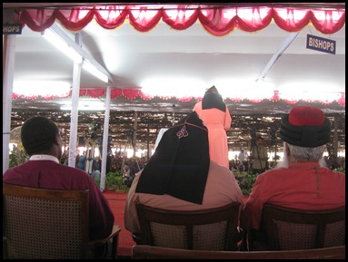 Inside main Panthal - Three Bishops of Three Denominations Anglican, Mar Thoma, Church of the East
