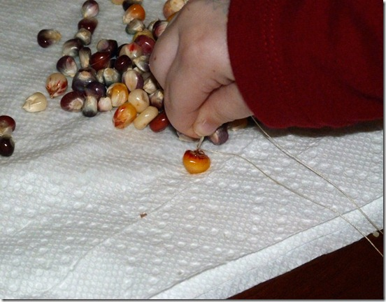 Making a Calico Corn Necklace 1