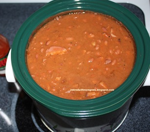 Pinto beans with ham -ready B