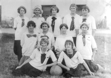 Estella's basketball team, about 1912