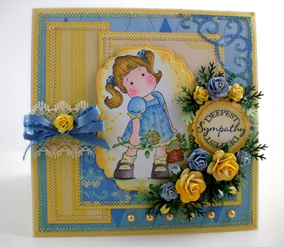 Tilda with Butterfly Dress Sympathy Card