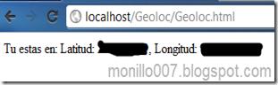 Ejemplo de API de Geolocalizacion HTML5
