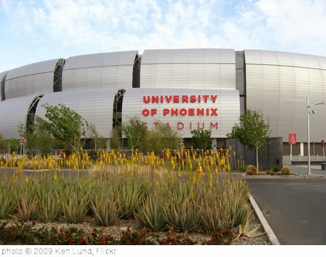 'University of Phoenix Stadium, Home of the Arizona Cardinals (2)' photo (c) 2009, Ken Lund - license: http://creativecommons.org/licenses/by-sa/2.0/