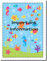 Important Info Sub Binder