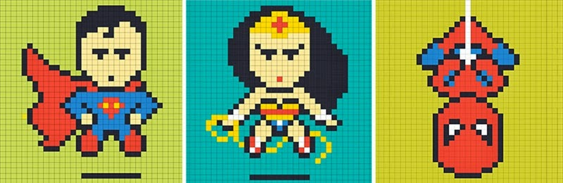 office-wall-post-it-art-superheroes-ben-brucker-25