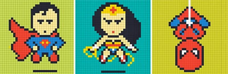 office-wall-post-it-art-superheroes-ben-brucker-25
