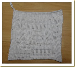 Tunisian Crochet washcloth
