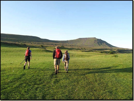 Setting off up Ingleborough at 6.40am
