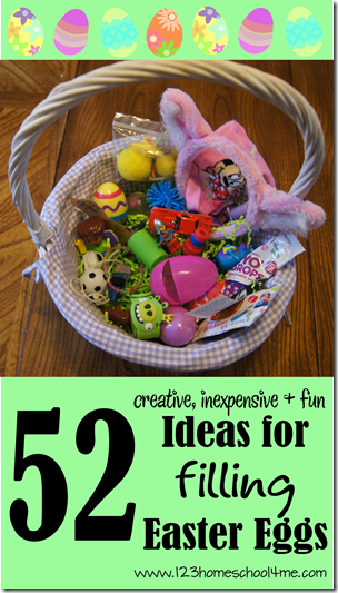 52 creative inexpensive and fun ideas for filling easter eggs