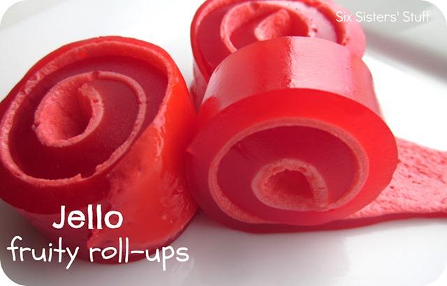 Jello Fruity Roll-Ups