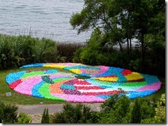 Laguna Gyre-Art piece from plastic bags Virginia Fleck
