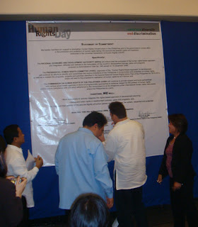 Commitment Signing of Key Government Stakeholders and Implementors