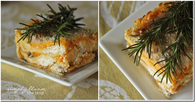 Butternut Squash & Mushroom Lasagna   Simply Bloom